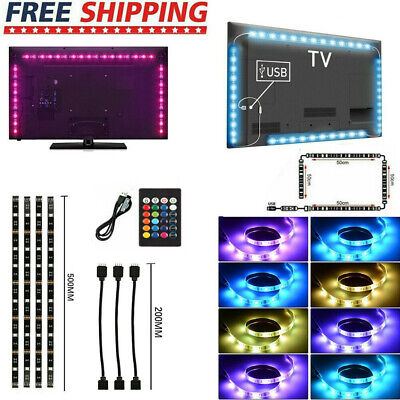 $9.55 • Buy 5050 RGB LED Strip Light USB Powered TV Backlight Lighting W/ Remote 5V 30Leds/M