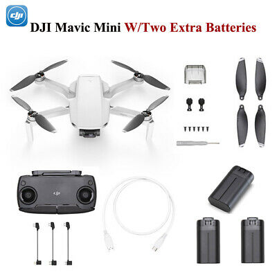 AU699 • Buy Genuine DJI Mavic Mini Drone 3-Axis Gimbal 2.7K Camera+Two Extra Batteries