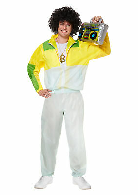 New Adult Shell Suit Costume Tracksuit Scouser 80s Mens Fancy Dress Outfit • 20.50£