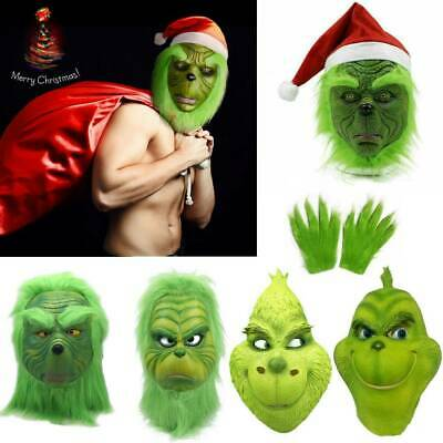 £12.24 • Buy Xmas The Grinch Glove Cosplay Mask Costume Christmas Prop How The Grinch Stole