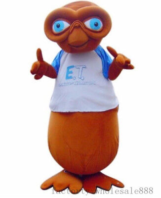 $321.08 • Buy Halloween Deluxe E.T.Alien Mascot Costume Party Fancy Dress Adults Size Outfit