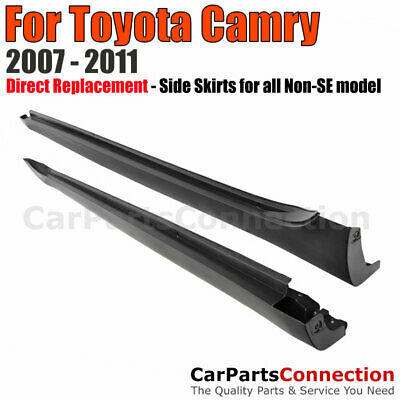 $139 • Buy Side Skirts Rocker Panels LE Style Replacement For 2007-2011 Toyota Camry Sedan
