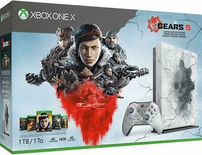 Xbox One X 1TB Console - Gears 5 Limited Edition Bundle White • 420$