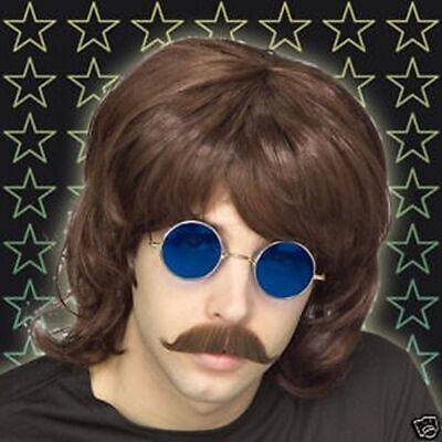 Brown SHAG WIG Boy Band Wig Hair 1970s 80s FANCY DRESS BEE GEE MULLET Costume • 4.99£