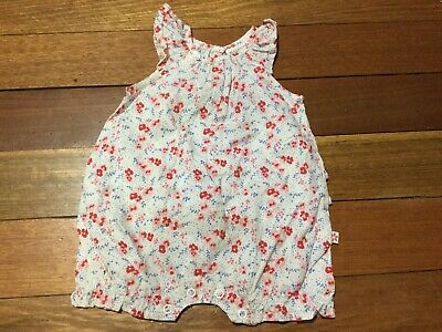AU12 • Buy MARQUISE Baby Romper White Red Blue Pink Florals Size 000 0-3months