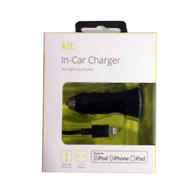Kit: 2.1A Lightning Connection USB In Car Charger For IPod IPad IPhone XS/8/7/6S • 7.49£