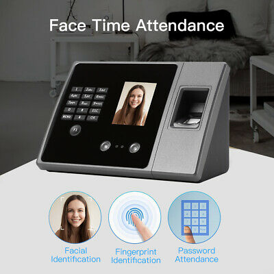 Biometric Face Time Attendance Machine Time Recorder Clock Employee Checking-in • 51.49£