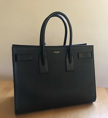 AU2800 • Buy YSL Saint Laurent Sac De Jour Tote Bag Medium Black Leather