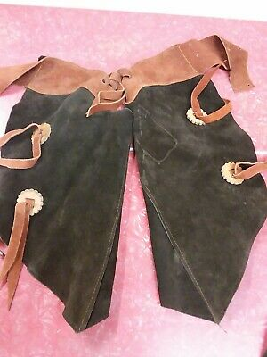 $75 • Buy VINTAGE LEATHER CHAPS FOR KIDS Cowboy