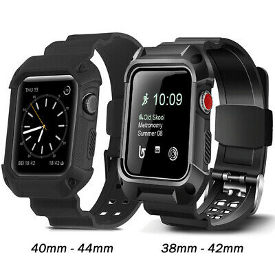 AU12.95 • Buy Shockproof Rugged Case Strap Band For Apple Watch Series 6 5 4 3 2 1-38 40 42 44