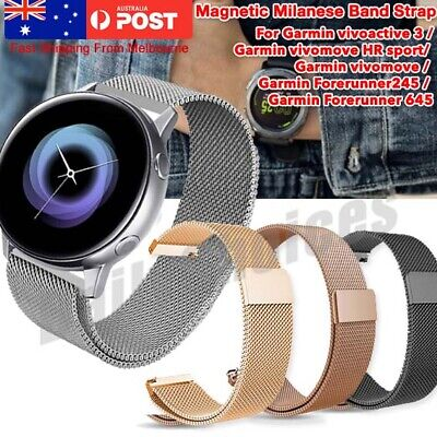 AU12.69 • Buy Samsung Galaxy Watch Active 2 Milanese Magnetic Stainless Steel Replacement Band