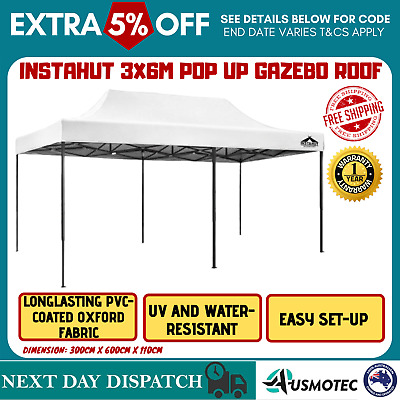 AU85.87 • Buy Outdoor Open Gazebo Party Wedding Sun Shade Canopy Pop Up Market Marquee Tent