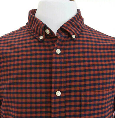 L.O.G.G H&M Label Of Graded Goods Mens Button Down Shirt Red Buffalo Check Sz L • 29.49$