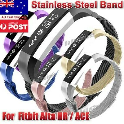 AU9.99 • Buy Milanese Stainless Steel Loop Watch Band Strap For Fitbit Alta/Alta HR/Alta Ace
