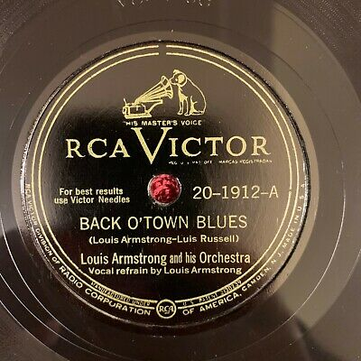 RCA VICTOR 20-1912 Louis Armstrong 78rpm Back O'Town Blues • 15.99$
