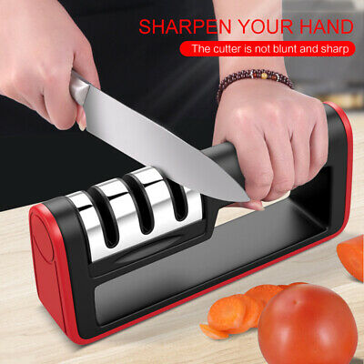 $4.79 • Buy KNIFE SHARPENER Professional Ceramic Tungsten Kitchen Sharpening System Tool NEW