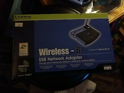 $20 • Buy New In Box Linksys Wireless-B Router, USB Network Adaptor,# WUSB11 Or (802.11b)