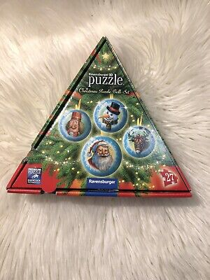 $16.99 • Buy RAVENSBURGER 3D PUZZLE CHRISTMAS BALL SET 4 Puzzles  27pc New But Not Sealed
