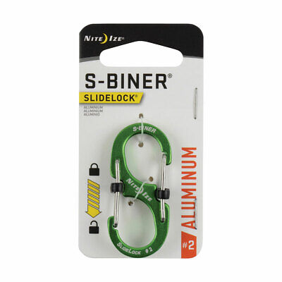 AU13 • Buy Nite Ize S-Biner SlideLock Aluminum Size 2 Lime LSBA2-17-R6 Now With Tracking