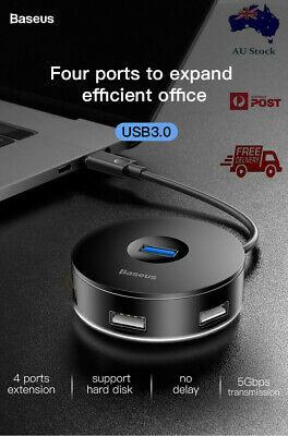 AU18.95 • Buy GENUINE Baseus  USB HUB 4 In 1/USB 3.0/High Speed 5Gbps  Adapter For Notebook