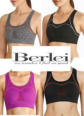 Berlei Seamfree Sports Bra Crop Top Fully Adjustasble Fit  YZ7P  RRP £31 • 6.60£