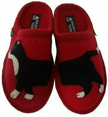 Haflinger Slippers Babsy Ziegelrot Boiled Wool Cat Red Bottom Felt -sl • 47.37£