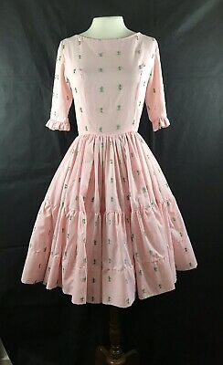 $23.12 • Buy Square Dance Dress And Petticoat Womens Small Crinoline Pink 1950s 60s Vtg