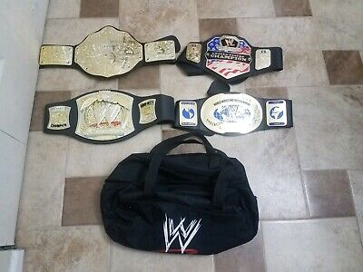 $80 • Buy 4 Wwe Kids Belts With Bag