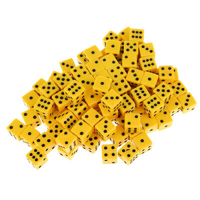 AU22.28 • Buy 100x Six Sided Dice D6 6-Die Square Dice For Roleplaying Game Party Supplies