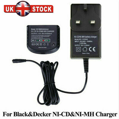 Charger For Black Decker 1.2V-18V A1712 A1718 A18 A12 Ni-MH Ni-CD Battery UK • 14.72£