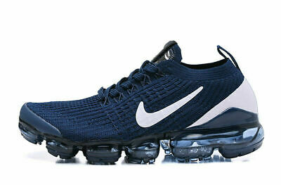 Nike Air VaporMax Flyknit 3.0 2019 Mens Running Shoes Sneakers Trainers Dark Blu • 150.19$