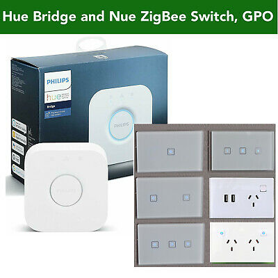 AU55 • Buy NUE ZigBee Smart Light Switch, Dimmer, GPO Socket 4 Philips Hue Home Automation