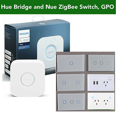 AU85.50 • Buy NUE ZigBee Smart Light Switch, Dimmer, GPO Socket 4 Philips Hue Home Automation