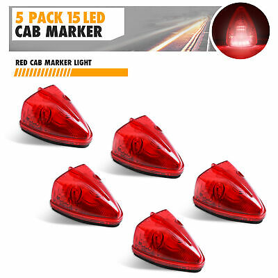 $15.99 • Buy 5x Red Triangle M20311R 15 LED Cab Roof Top Clearance Marker Lights Truck Bus