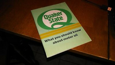 Quaker State What You Should Know About Motor Oil 1990 Booklet • 3.99$