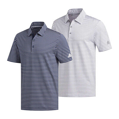 $27.99 • Buy New Adidas Golf Ultimate365 Two-Color Stripe Polo Shirt  REGULAR FIT UPF 50+