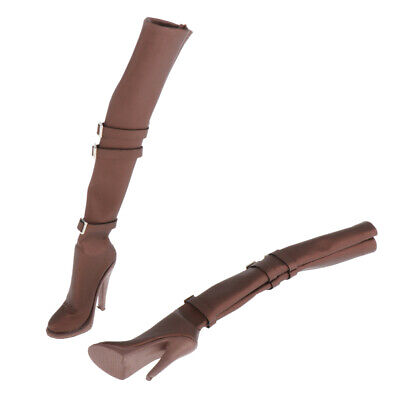 $15.09 • Buy 1:6 Scale Boots For Hot Toys   Enterbay TTL CY CG Girls Accessories Brown
