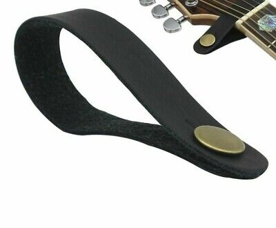 $ CDN14.63 • Buy Durable Leather Guitar Strap Holder Button Lock For Acoustic Electric Guitar New