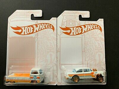 Hot Wheels Chevy Bel Air Gasser And Volkswagen T2 Pickup Pearl And Chrome 1/64 • 7.25$