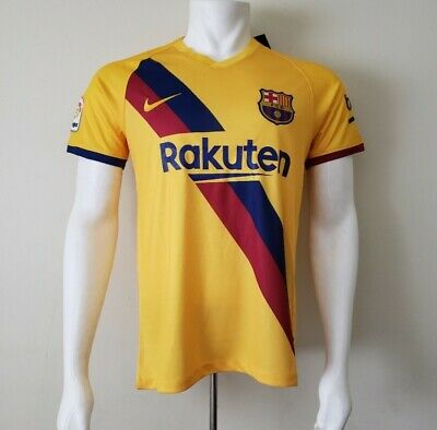 Barcelona Away Jersey Yellow 2019/2020 Size Small • 25$