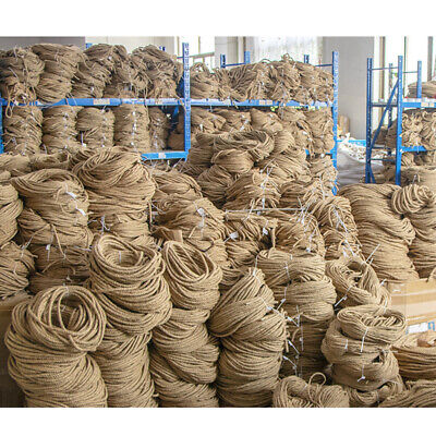 Natural Jute Hessian Rope Cord Braided Twisted Boating Sash Garden Decking UK • 13.14£