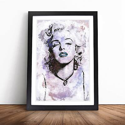 Marilyn Monroe In Abstract Wall Art Framed Picture Print • 16.95£