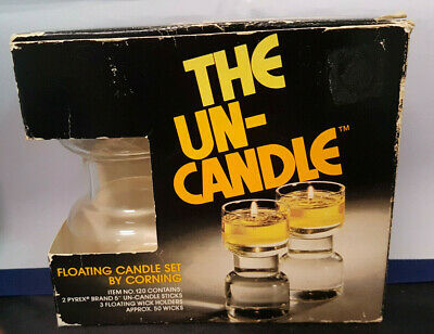 £11.46 • Buy Vintage  The Un-Candle  By Corning. Model 120 Floating Wick. NIB. 5  Candle.