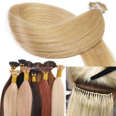 Fusion Keratin Pre Bonded Stick I Tip 100% Remy Human Hair Extensions US Stock • 22.50$