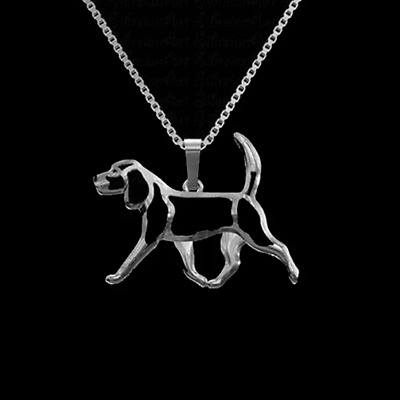 Beagle Dog Pendant With 18  Silver Necklace Free Gift Bag Great Gift  • 8.95£