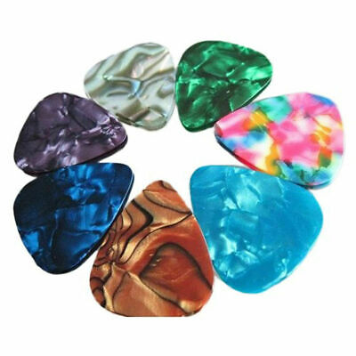 AU2.45 • Buy 3x Multicolor Celluloid Acoustic Electric Guitar Picks Plectrums Thin 0.46mm