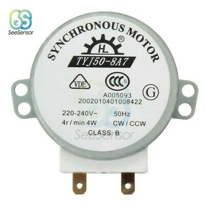 CW/CCW Turntable Microwave Oven Synchronous Motor AC 220-240V 4RPM 4W Uomtj • 8.39£
