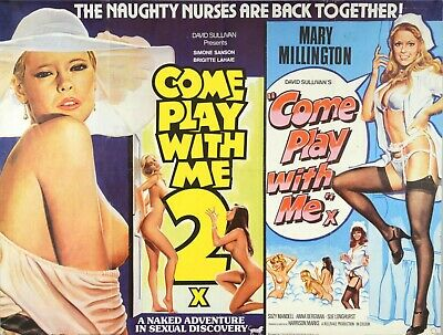 Come Play With Me / 2 Double Bill Uk Adult Comedy Repro Quad 30x40  Poster Uk • 24.99£