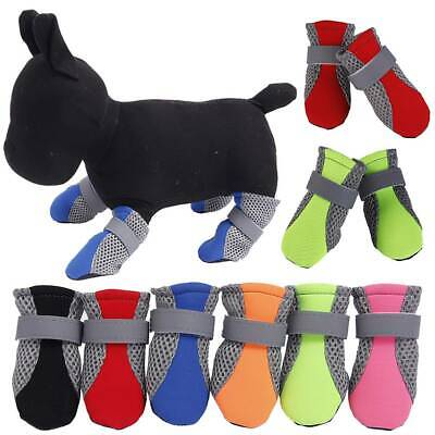 4 Waterproof Pet Shoes Winter Dog Cat Snow Boot Warm Mesh Booties For Chihuahua • 7.02£