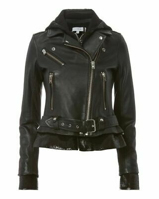 $ CDN1316.63 • Buy New $1,500 Iro Riley Back Sequins Lined Leather Moto Biker Jacket Size 38